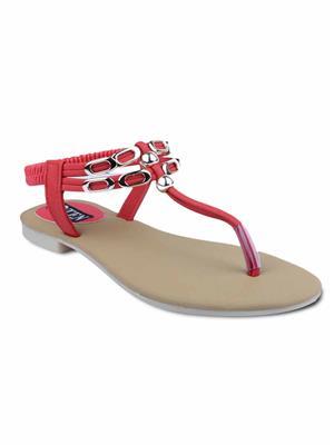 TEN TENSanmbdred03 Red Women Sandal