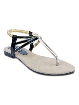 TEN TENSanpipeblk01 Black Women Sandal