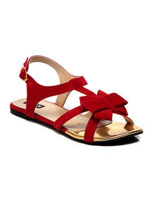 Ten santjb-16R02 Red Women Flats