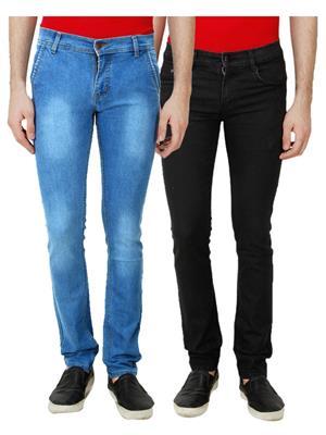 Ansh Fashion Wear TJ-CM-2-BLK Multicolored Men Jeans Set Of 2