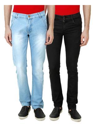 Ansh Fashion Wear TJ-CM-3-BLK Multicolored Men Jeans Set Of 2