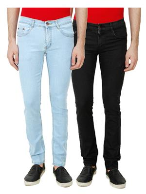 Ansh Fashion Wear TJ-RP3-BLK Multicolored Men Jeans Set Of 2