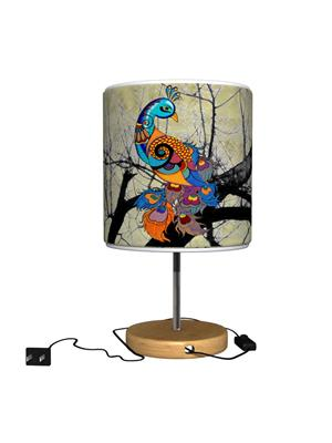 Kolorobia TLMPPC11 Peacock CreamTable Lamp