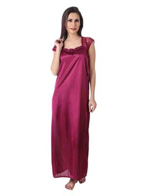 Turnpike TP-Mgt-01 Magenta Women Nighty One Piece