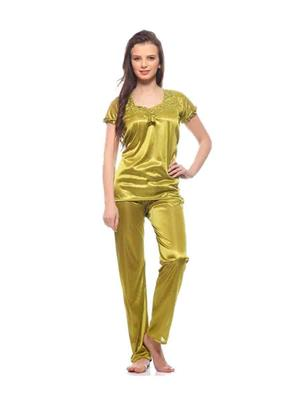 Turnpike TP-Parrot Green T&P-01 Parrot Green Women Night Suit-Top & Payjama