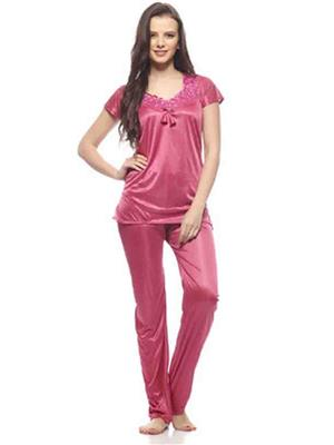 Turnpike TP-Pch T&P-01 Peach Women Night Suit-Top & Payjama
