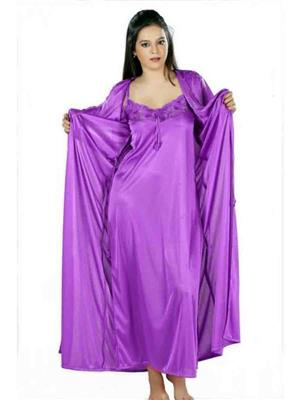 Turnpike TP-Robe-Mav-01 Mauve Women Nighty Set With Robe