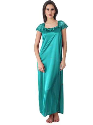 Turnpike TP-Turq-01 Turquoise Women Nighty One Piece