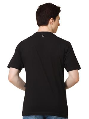 2go TS-01 Black/Blue 2 Combo Round Neck Men T-shirt