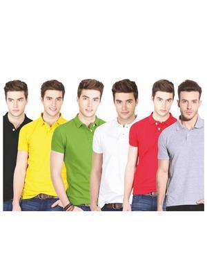 Ansh Fashion Wear TS-6CM-6-1 Multicolored Men t-Shirt Set Of 6
