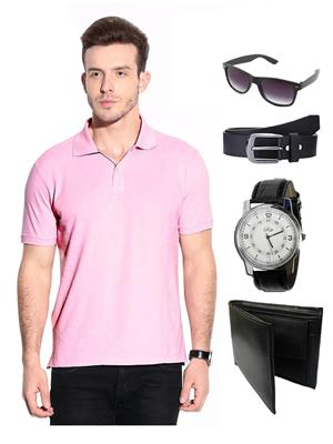 Ansh Fashion Wear TS-WPBS-1 Pink Men T-Shirt Combo Pack