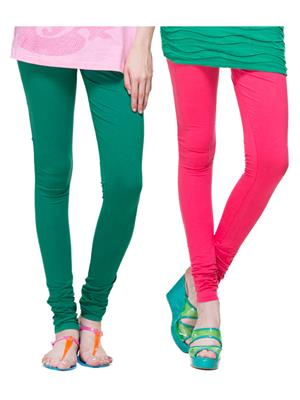 Tsg Bliss C18 Multicolored Women Leggings Set Of 2