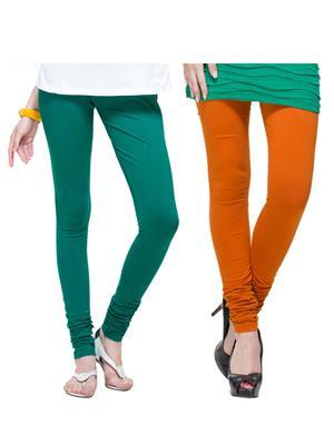 Tsg Bliss C9 Multicolored Women Leggings Set Of 2