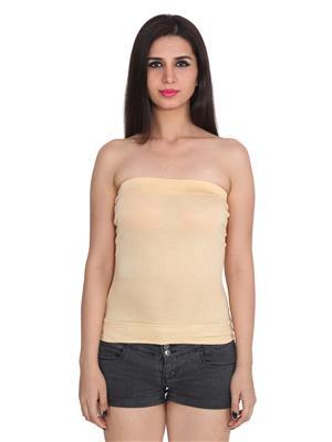 Ansh Fashion Wear Tube-3 Beige Women Camisole