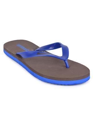 Wega Life Tvc007 Brown-Blue Men Flip-Flop