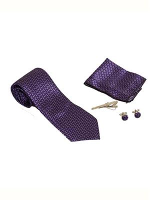 Won Fashion Tailors Casual 20 Purple Men Necktie