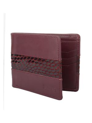 Urban Gypsys UGLW002 Maroon Men wallet
