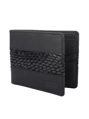 Urban Gypsys UGLW028 Black Men wallet