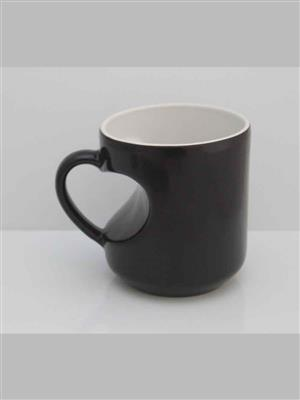 UNIQUE ARTS UM-4 BLACK  HEART MUG