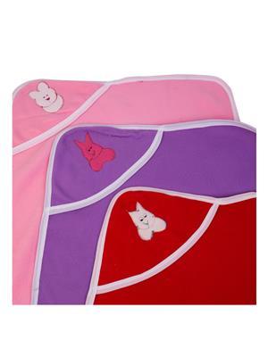 UTC GARMENTS UTC0303 Multicolored Hooded Baby Blanket Combo Pack
