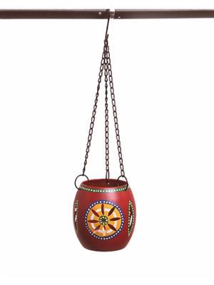 VarEesha Vacl026 Red Metal Tea Lite Lamp