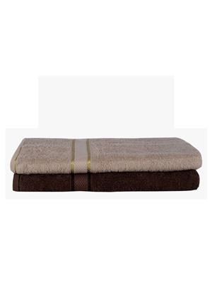 V Brown Vb2Bt047 Multicolored Bath Towel Set Of 2