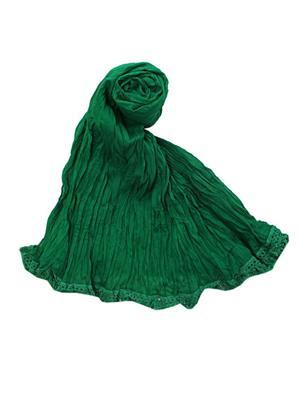 V Brown VBCD0068 Green Women Dupatta