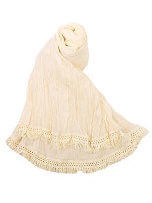 V Brown VBCD0079 White Women Dupatta