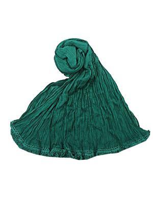 V Brown VBCD0083 Green Women Dupatta