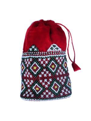 V Brown Vbkhbbp3002 Red Potli Bag