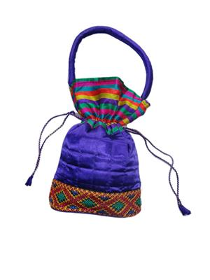 V Brown Vbkhbcp4001 Purple Potli Bag