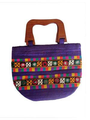 V Brown Vbkhbhw10001 Purple Potli Bag