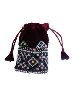 V Brown Vbkhbmp2001 Maroon Potli Bag