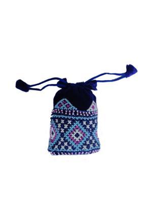 V Brown Vbkhbmp2002 Blue Potli Bag
