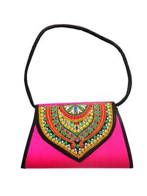 V Brown Vbkhbshb11001 Pink Potli Bag