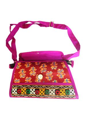 V Brown Vbkhbshb8001 Red Potli Bag