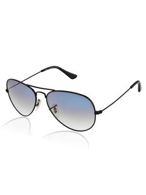 Velocity VCHD3025BLKGRADBLUE Black Unisex Aviator Sunglasses