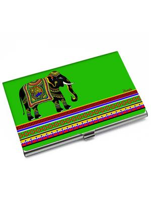 Kolorobia VCHE08 Elephant Green Visiting Card Holder