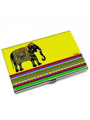 Kolorobia VCHE09 Elephant Yellow Visiting Card Holder