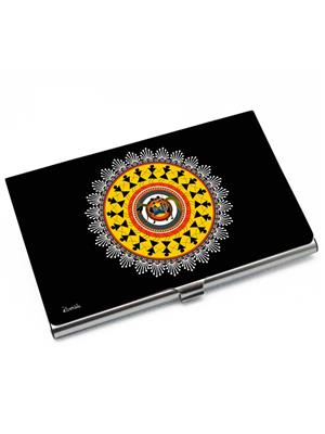 Kolorobia VCHW06 Black n Yellow Warli Visiting Card Holder