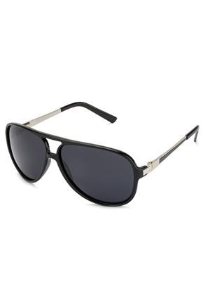 Velocity VCP13-BLKSILSMK Black Unisex Aviator Sunglasses