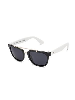Velocity VCP15-BLKWHSMK Black Unisex Wayfarer Sunglasses