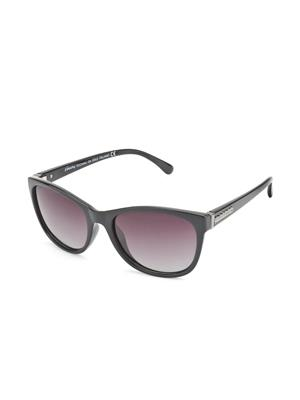 Velocity VCP17-BLKGRDSMK Black Unisex Cateye Sunglasses