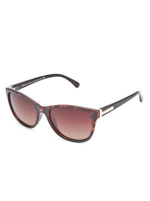 Velocity VCP17-DEMIGRDBRN Brown Unisex Cateye Sunglasses