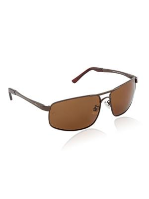 Velocity VCPOL24BROWN Brown Unisex Square Sunglasses