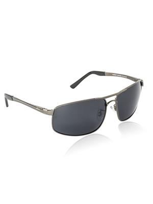 Velocity VCPOL24GUNSMOKE Grey Unisex Square Sunglasses