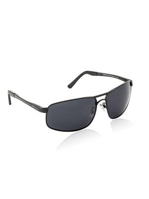 Velocity VCPOL24MATBLACKSMOKE Black Unisex Square Sunglasses