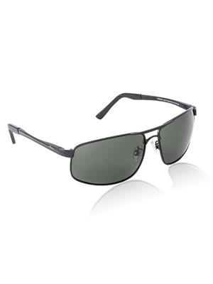 Velocity VCPOL24MATBLACK Black Unisex Square Sunglasses