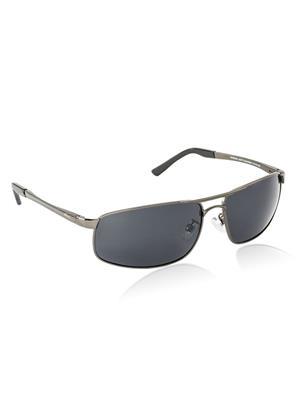 Velocity VCPOL24MATGUNSMOKE Grey Unisex Square Sunglasses