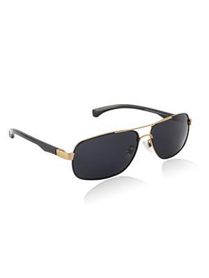 Velocity VCPOL25BRUSHDGLDSMK Golden Unisex Square Sunglasses